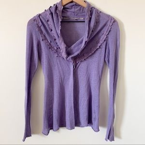 Anthropologie Knitted Knot Cowl Neck Cardigan